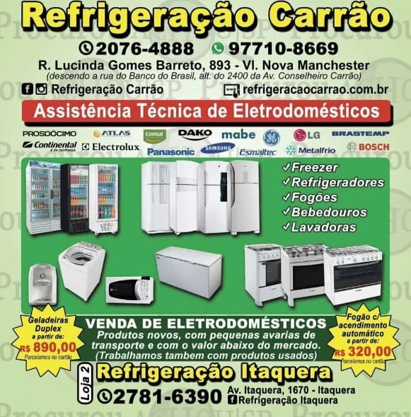 Assistência Técnica de Secadoras e Orçamento de Conserto de Secadoras na Zona Leste de São Paulo, Vila Carrão, Itaquera, Tatuapé | Refrigeração Carrão | Ligue agora: 11 2076-4884 | 11 2076-4888