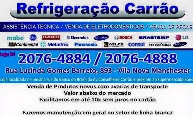 Empresa de Assistência Técnica de Refrigeradores e Conserto de Refrigeradores na Zona Leste de São Paulo, Vila Carrão, Itaquera, Tatuapé   Refrigeração Carrão   Ligue agora: 11 2076-4884   11 2076-4888